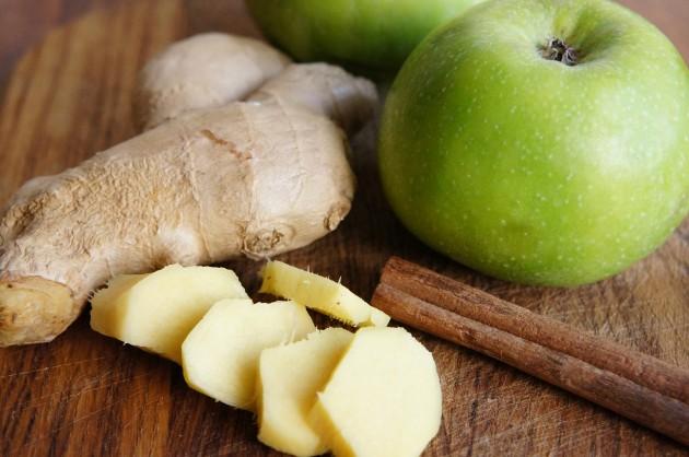 Яблочный джем с имбирём и корицей