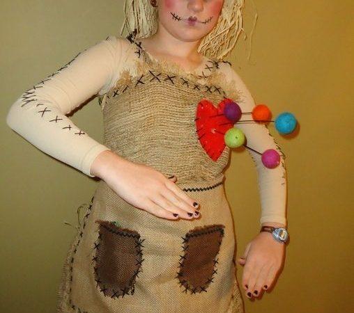 Макияж на Хэллоуин. Кукла вуду