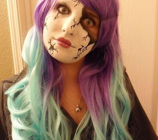 Макияж на Хэллоуин. Разбитая кукла