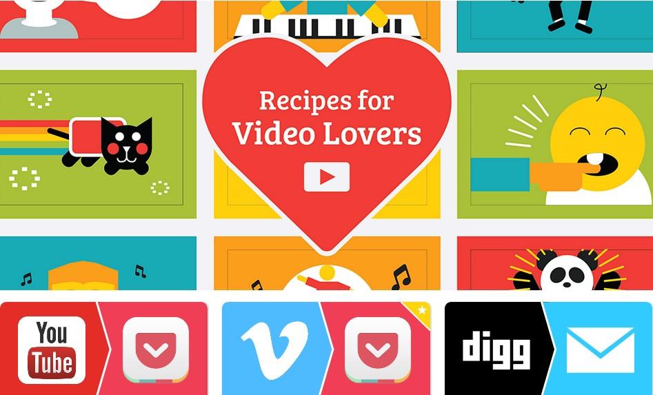 Коллекция рецептов IFTTT длялюбителей видео
