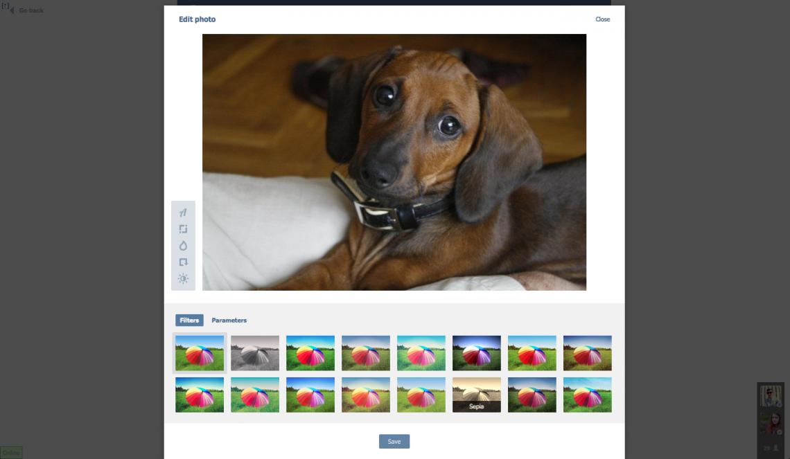 Новые фильтры и точные настройки в обновлённом фоторедакторе «ВКонтакте»