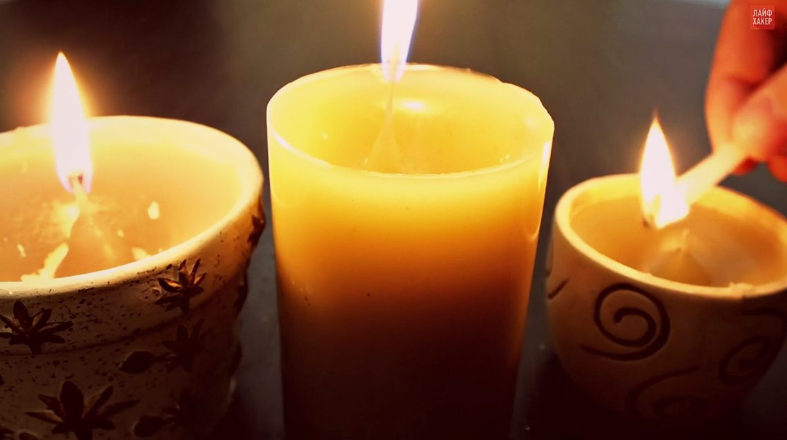 ВИДЕО: Как сделать ароматические свечи из огарков