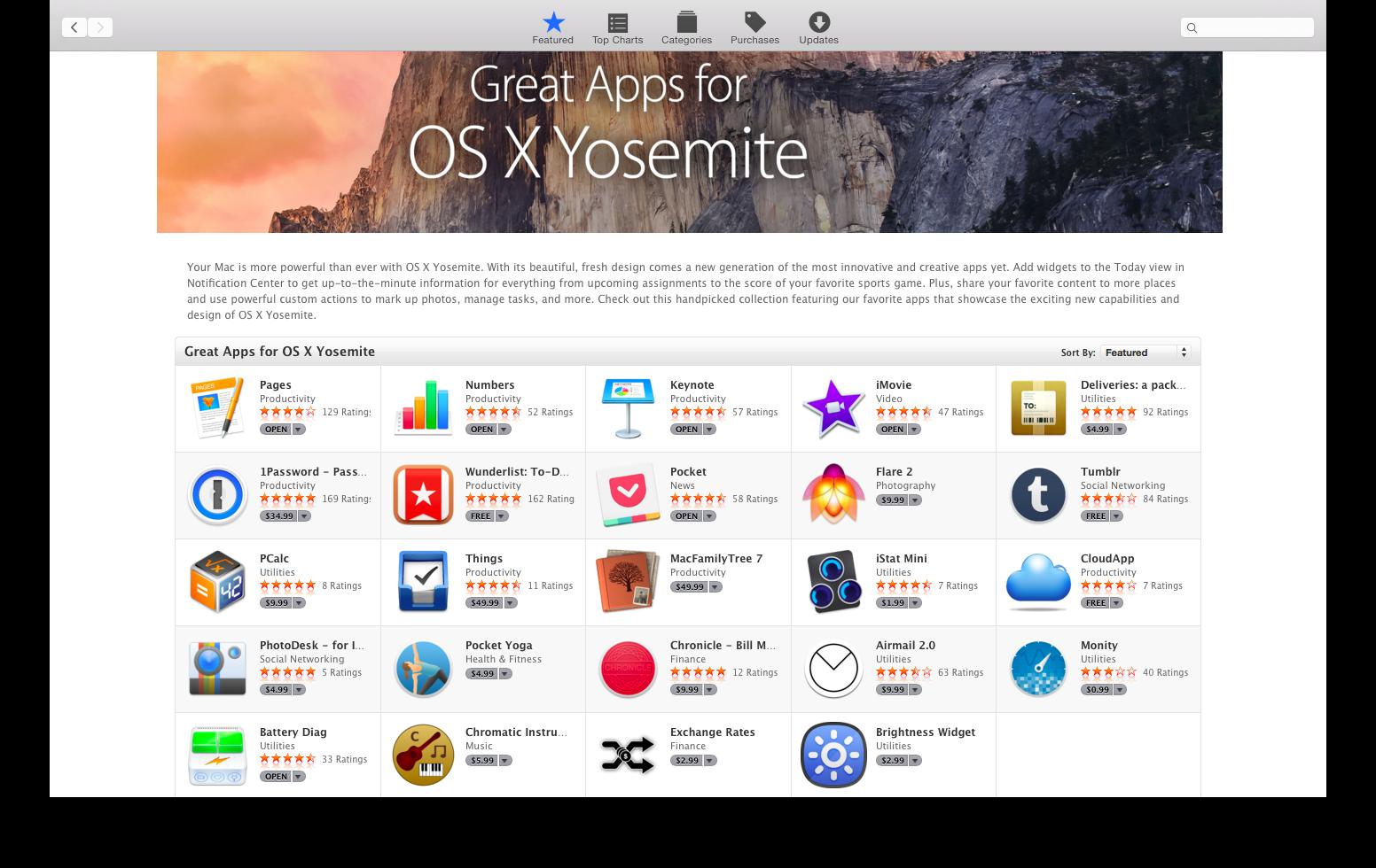 5 отличных приложений для OS X Yosemite