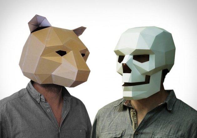 3D-маски из картона своими руками