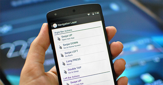 Navigation Layer — управление жестами для Android