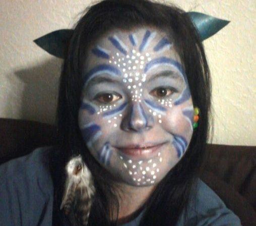 Макияж на Хэллоуин. Аватар