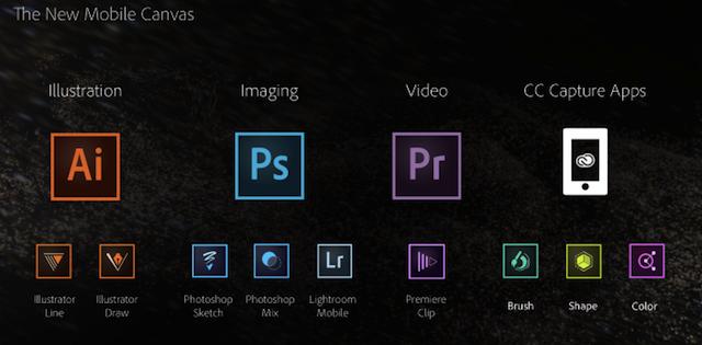"""Adobe представила новые приложения для iOS c """"облачной"""" синхронизацией"""