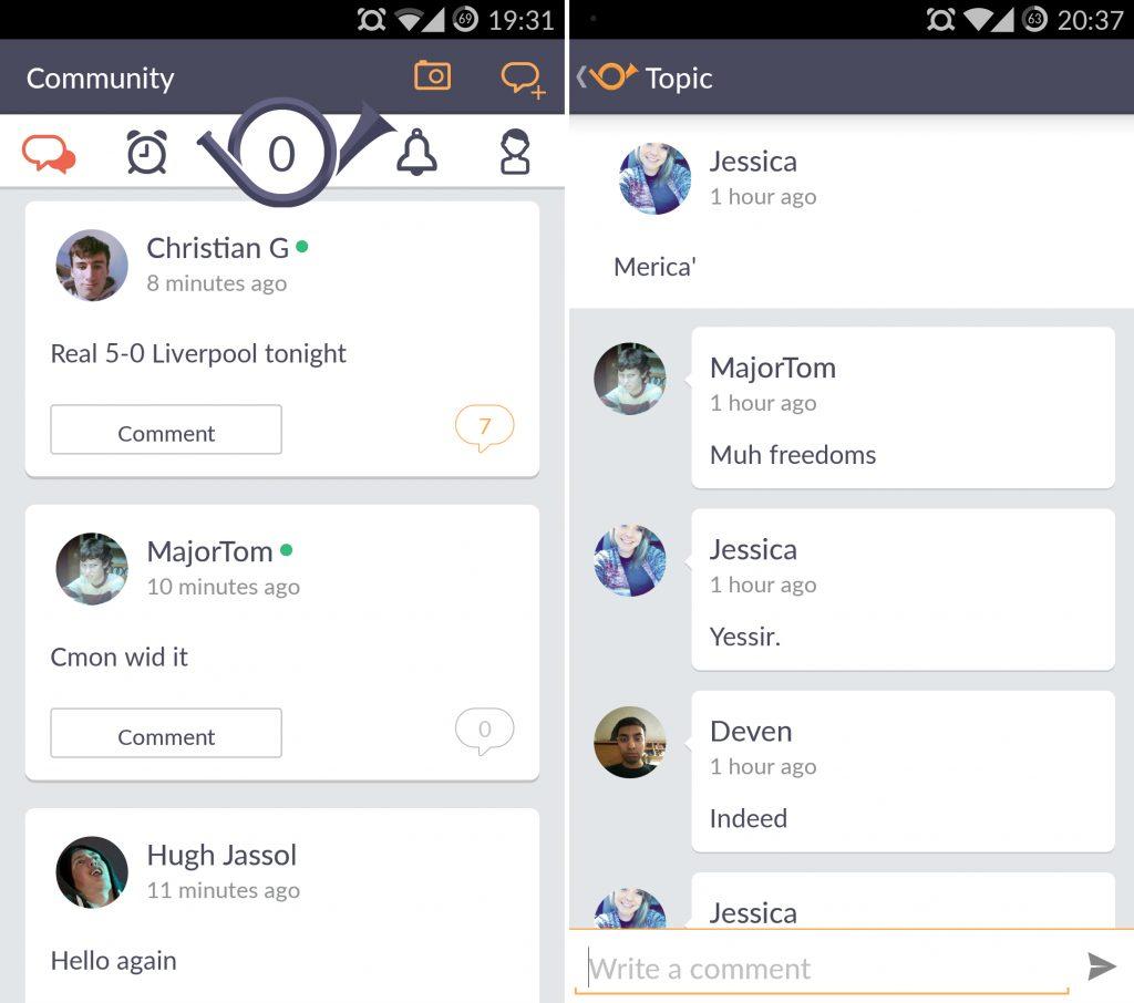 Переписка в Wakie для Android