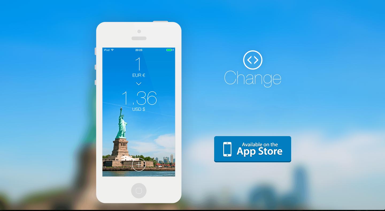 Change для iOS — простой и быстрый конвертер валют