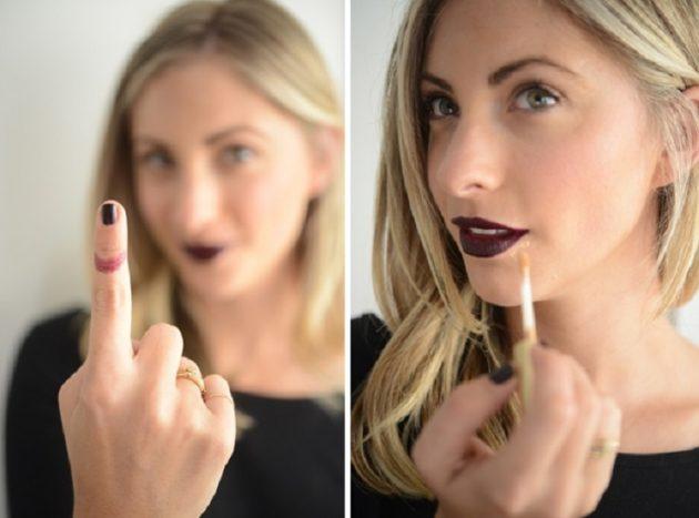 Как накрасить губы и не испачкать губы