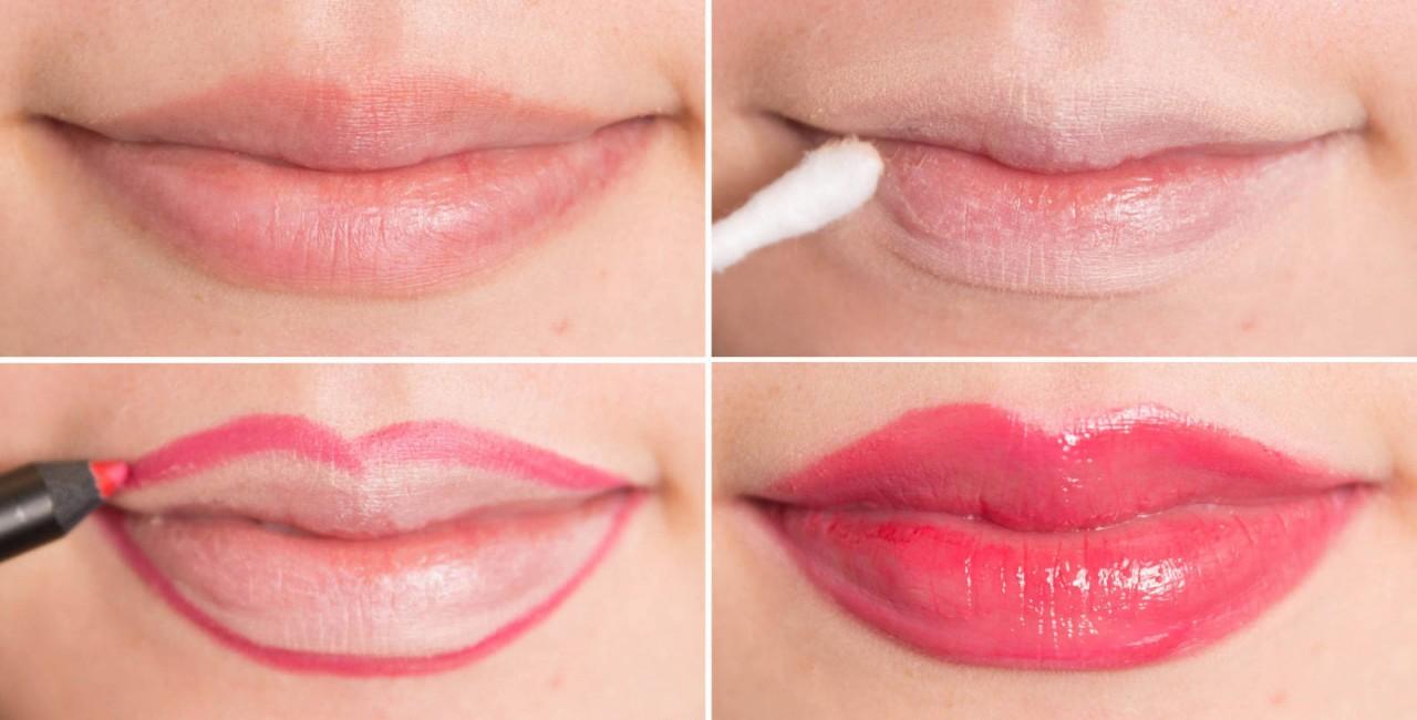 Пухлые губы макияж фото
