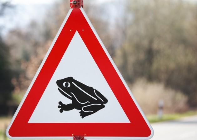 Дорожный знак, распространённый в Германии