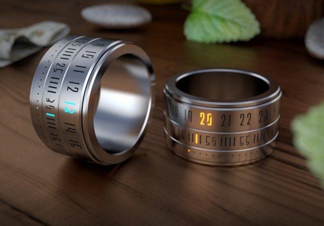Ring Clock — стильное украшение из стали и часы