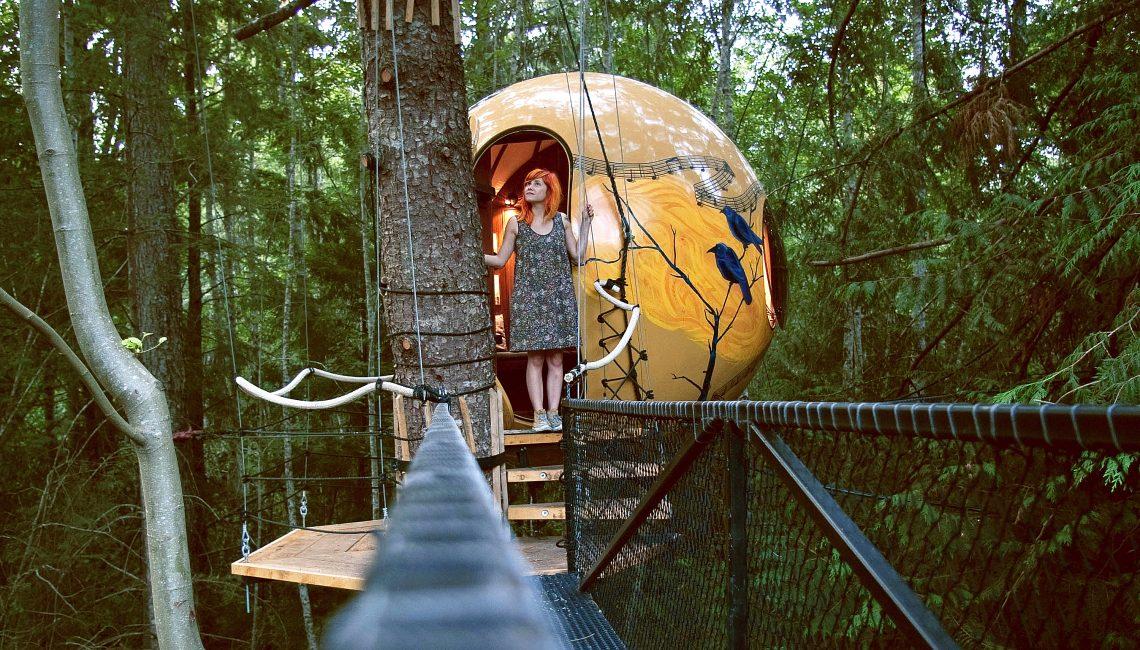 Жизнь в «гнезде»: 3 дома на деревьях, которые вас удивят