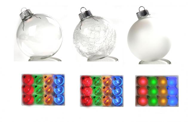 Разные виды стеклянных шаров
