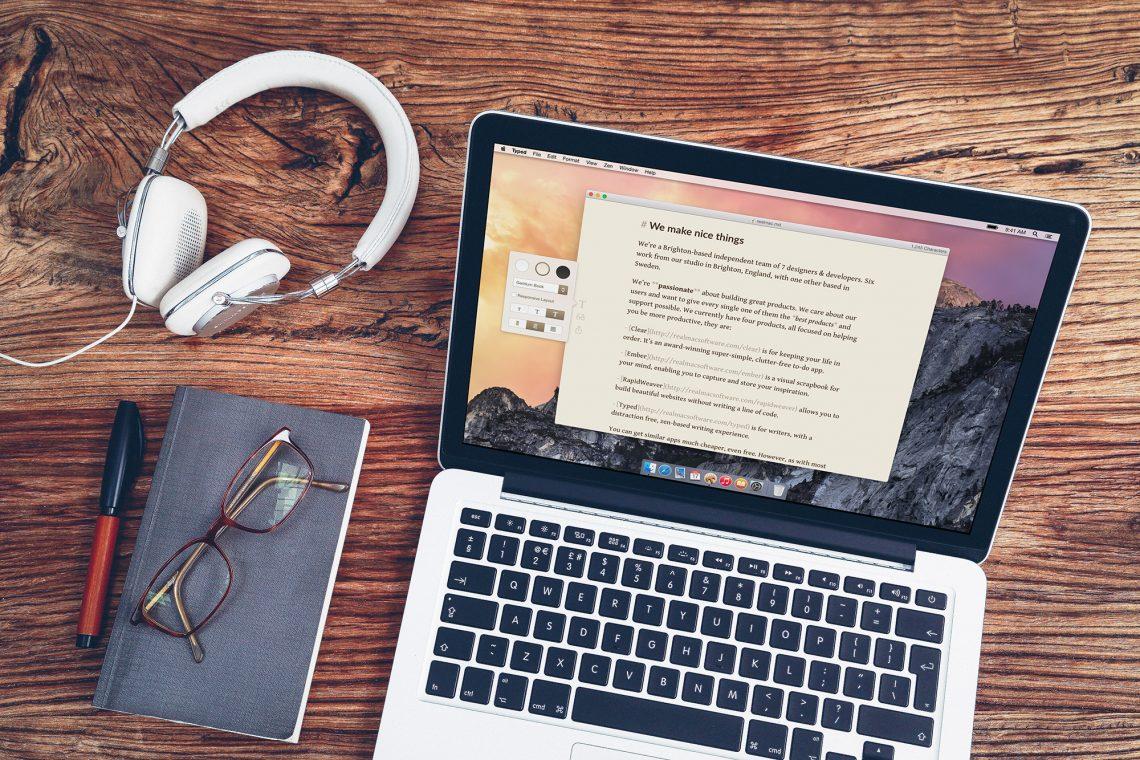 Создайте нужную атмосферу для написания текстов с Typed