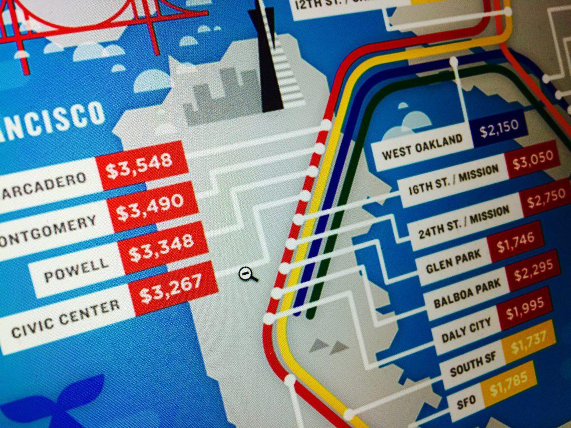 ИНФОГРАФИКА: Сколько стоит аренда квартиры в Сан-Франциско и окрестностях
