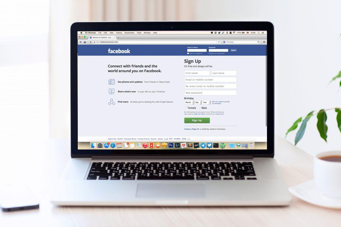 Facebook теперь официально доступен в Tor