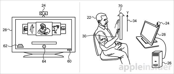 Apple TV можно будет управлять жестами – новый патент Apple