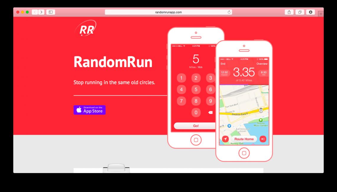 Мобильное приложение для бегунов RandomRun