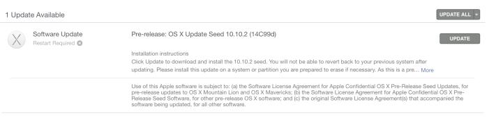 Apple выпустила OS X 10.10.2 beta 5
