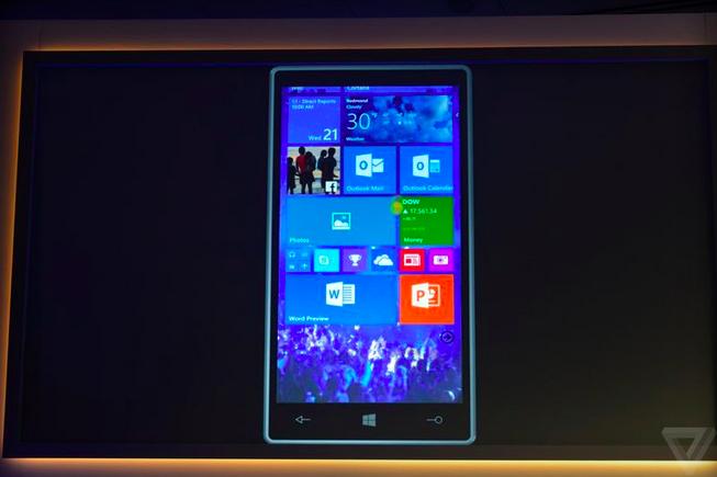 Microsoft показала Windows 10 для телефонов