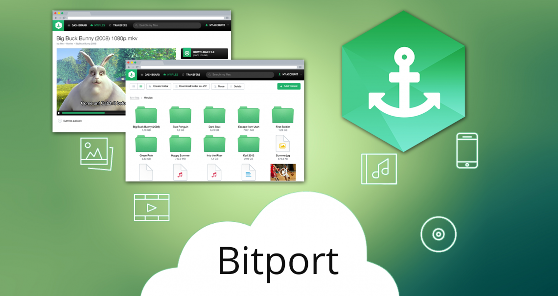 Bitport.io — облачный сервис для скачивания, хранения и доступа к торрентам с любого устройства