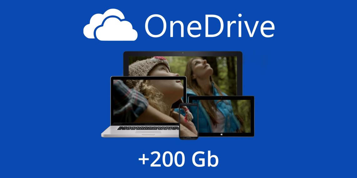 Всего два клика отделяют вас от +200 ГБ в облачном хранилище OneDrive