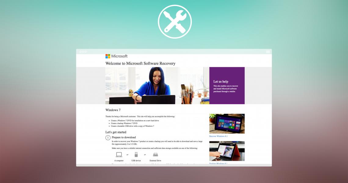 Создаём загрузочный диск Windows 7, используя Microsoft Software Recovery