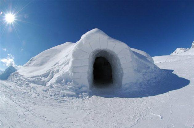Сеть отелей из снега Iglu-Dorf