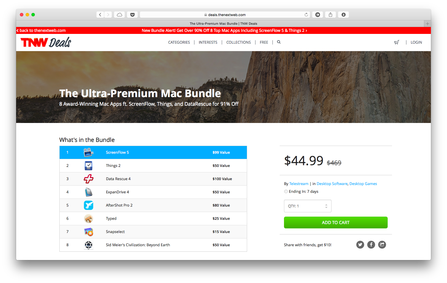 The Next Web продаёт сборник отличных программ для Mac со скидкой 90%