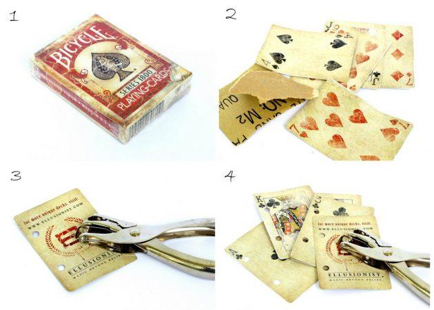 Скрепляем колоду карт
