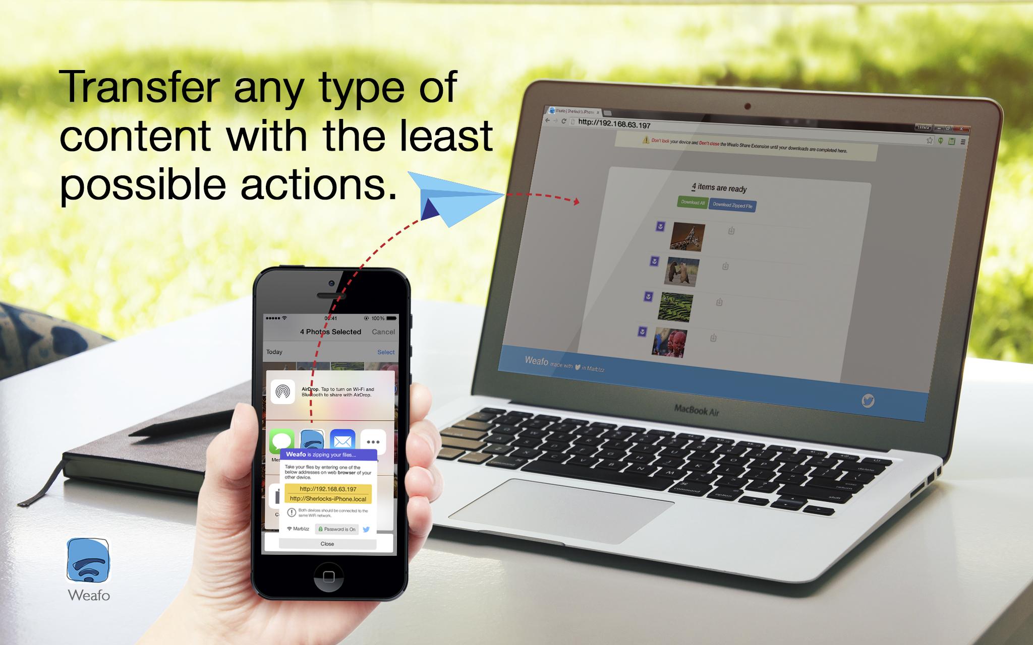 Weafo для iOS — если вы устали от неработающего AirDrop