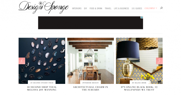 Главная страница Design Sponge