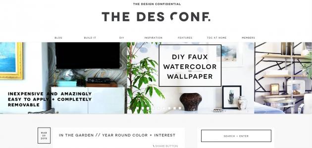 Главная страница The Design Confidental