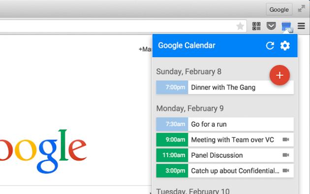 Расширение Google Calendar (by Google)