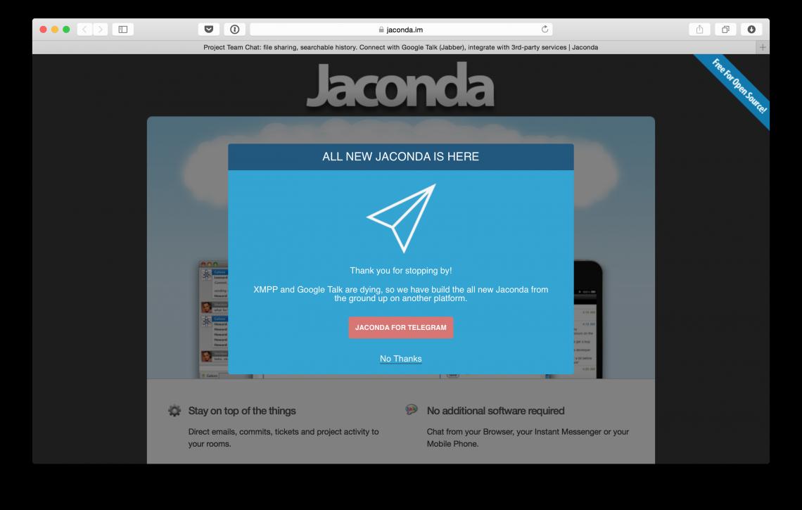Jaconda IM — Telegram на стероидах