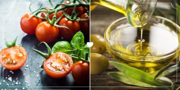 Томаты и оливковое масло