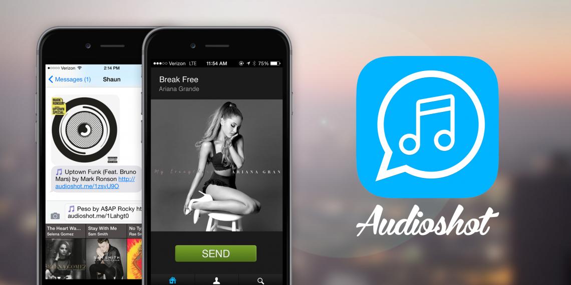 AudioShot позволяет поделиться музыкой, которая играет на вашем iPhone