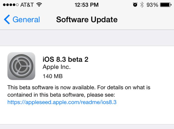 Вышла iOS 8.3 beta 4 для разработчиков и публичных бета-тестеров