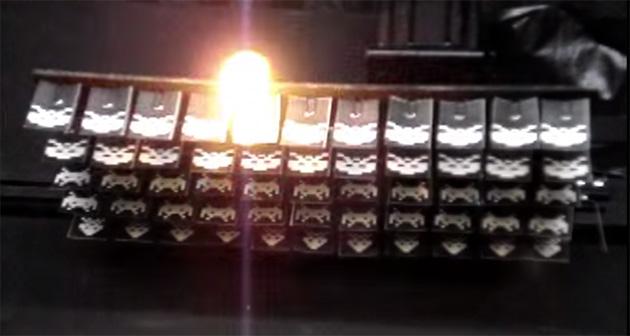ВИДЕО: Легендарная Space Invaders с настоящим лазером в реальной жизни