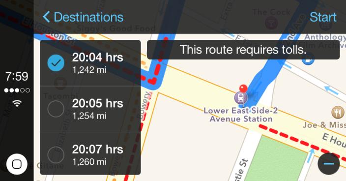 Карты Apple научатся учитывать покрытие сотовой сети при прокладке маршрута