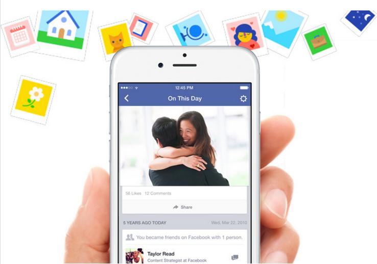 Facebook выпустила On this Day — клон приложения Timehop