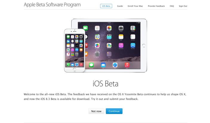 Apple запустила публичное бета-тестирование iOS 8.3