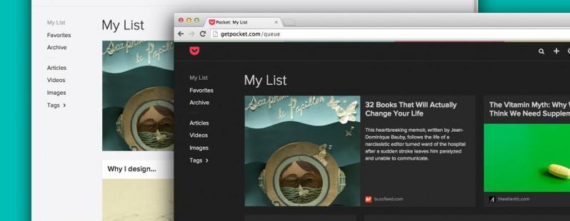 Сервис Pocket обновил дизайн веб-приложения