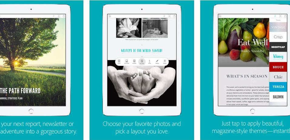 Adobe Slate: Удобное iPad-приложение для создания красивых визуальных историй