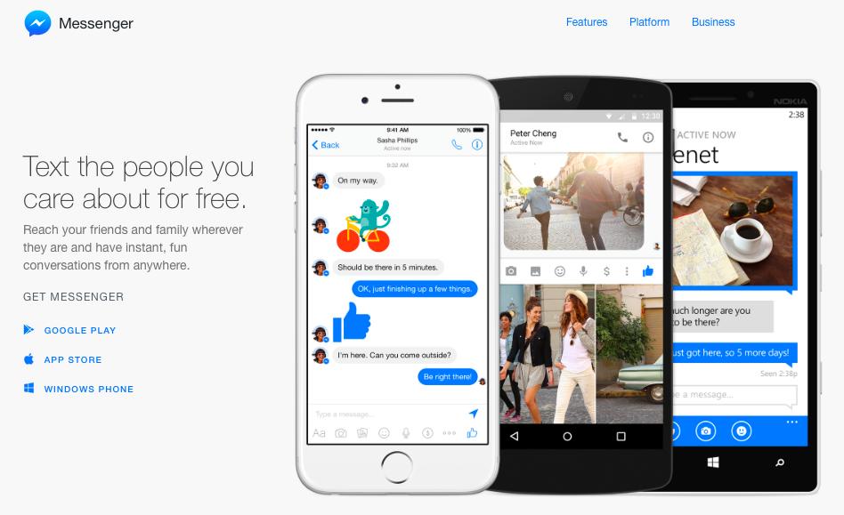 Facebook выпустил веб-версию Messenger