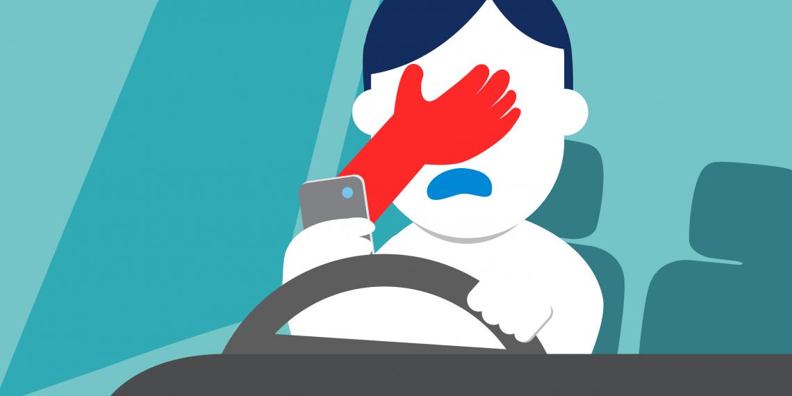 На чтоотвлекаются молодые водители за секунды до аварии