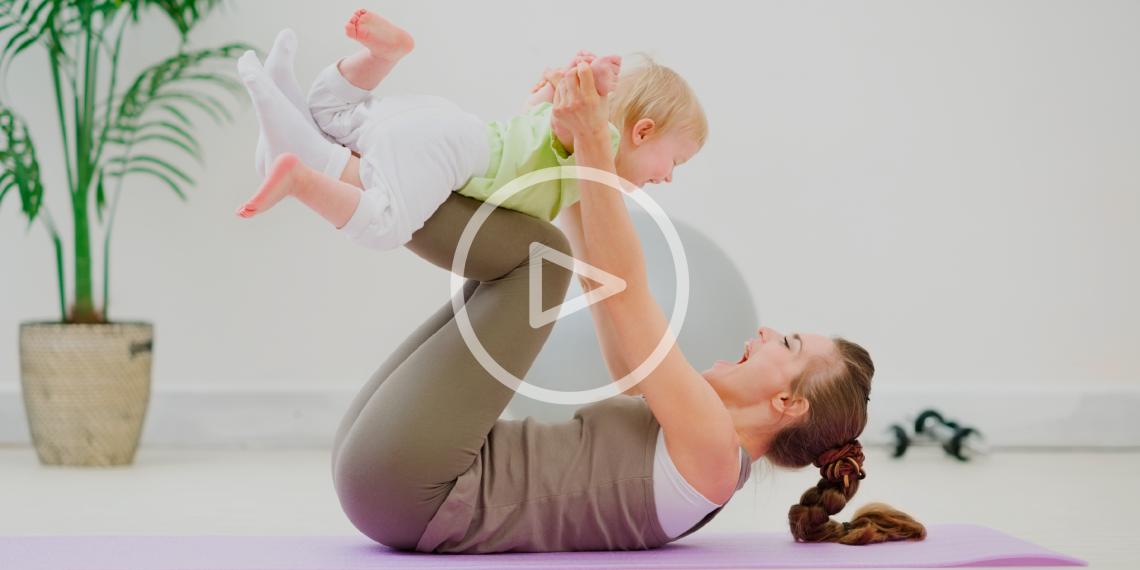 ВИДЕО: Тренировки для мам с маленькими детьми