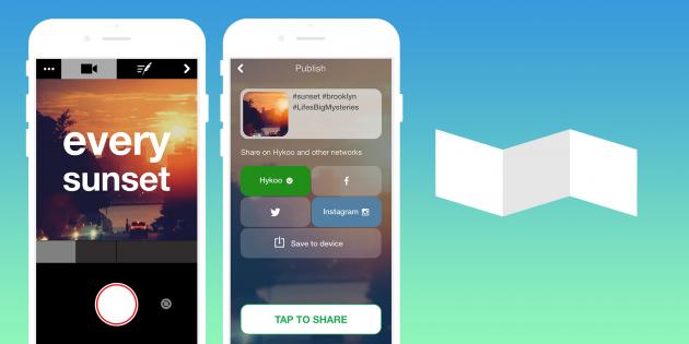 Hykoo — приложение для создания креативных видео в Instagram